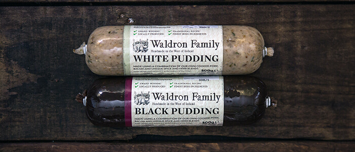 black and white handmade pudding