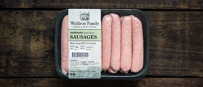 100% irish handmade pork sausages