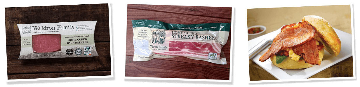 cooked and uncooked Waldron Meats Rashers