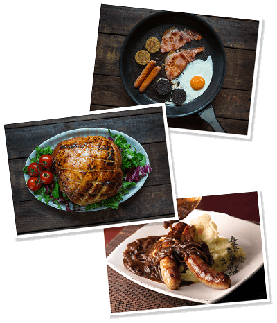 images of cooked waldron meats products